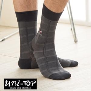 絲光棉竹炭防黴紳士襪(黑)