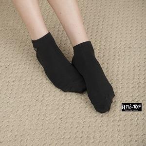 黑晶纖維竹炭腳踝襪